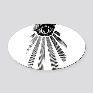 all seeing eye Oval Car Magnet