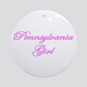Pennsylvania Girl Ornament (Round)