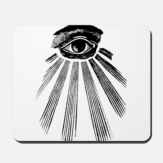 all seeing eye Mousepad