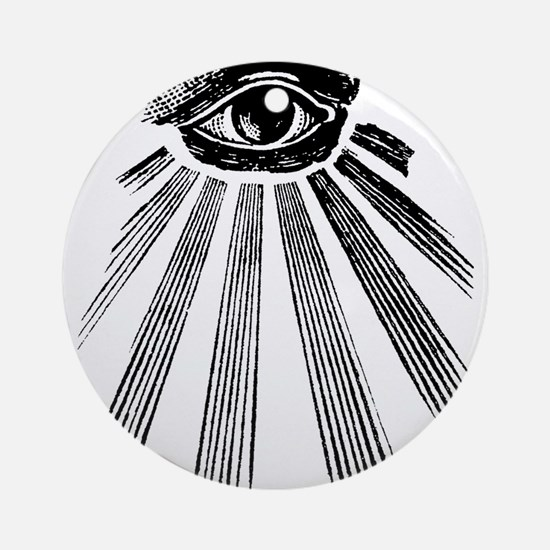 all seeing eye Round Ornament