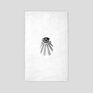 all seeing eye Area Rug