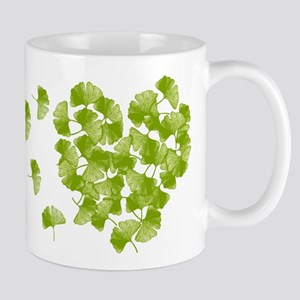 Ginkgo Leaf Heart Mugs