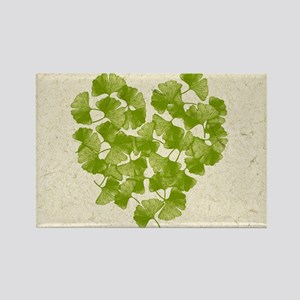 Ginkgo Leaf Heart Magnets