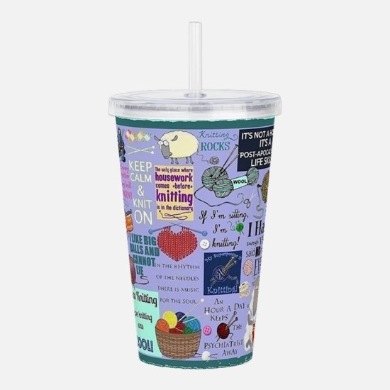 Knitters Acrylic Double-Wall Tumbler