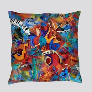 Musician Band Colorful Abstract Ja Everyday Pillow