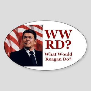 PRES40 WWRD? Sticker (Oval)