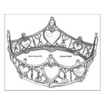 silver Queen of Hearts crown tiara pageant by Kris