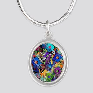 Colorful Painted Guitars Cur Necklaces