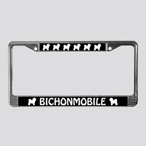 Bichonmobile License Plate Frame