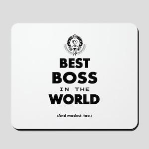 Best Boss in the World Mousepad