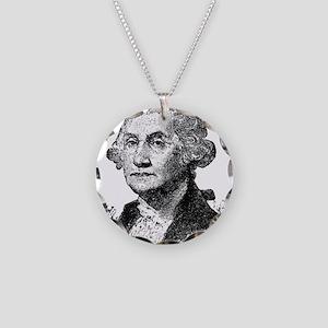 George Washington Necklace Circle Charm