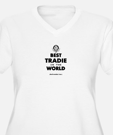 Best Tradie in the World Plus Size T-Shirt