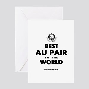 The Best in the World – Au Pair Greeting Cards