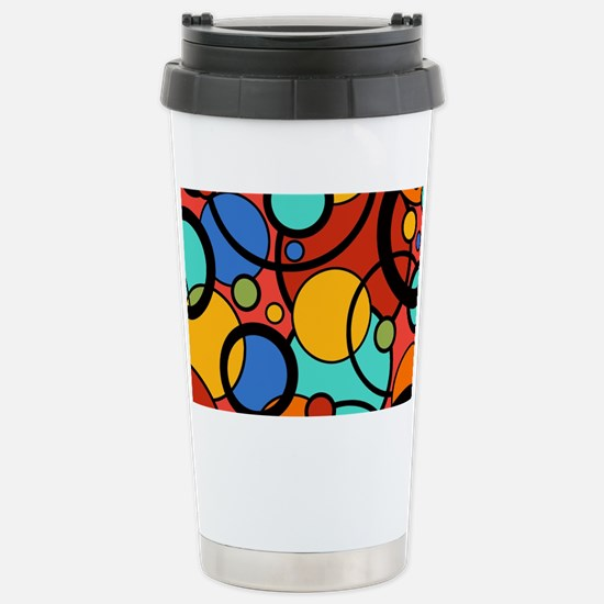 Graphic Bright Colorful Stainless Steel Travel Mug