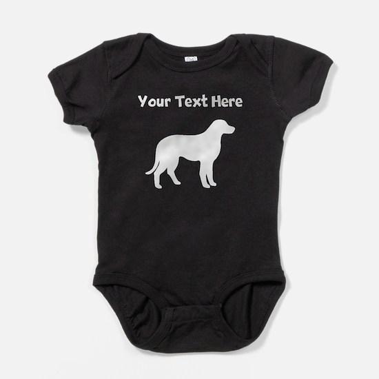 Chesapeake Bay Retriever Silhouette Baby Bodysuit