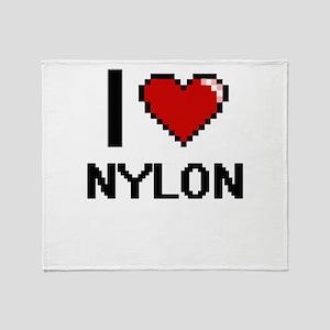I Love Nylon Throw Blanket