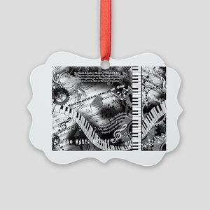 Classical Piano Art Musician Moza Picture Ornament