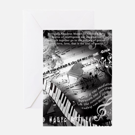 Classical Piano Art Musician Mozart Greeting Cards