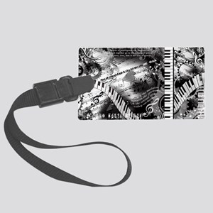 Classical Piano Art Musician Moz Large Luggage Tag