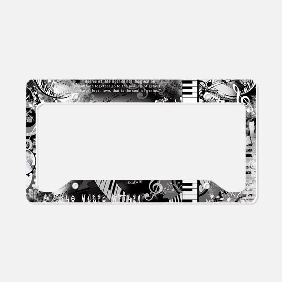 Classical Piano Art Musician License Plate Holder