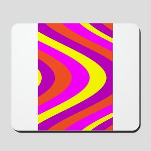 Fluid Karma Pink Yellow Becky's Fave Mousepad