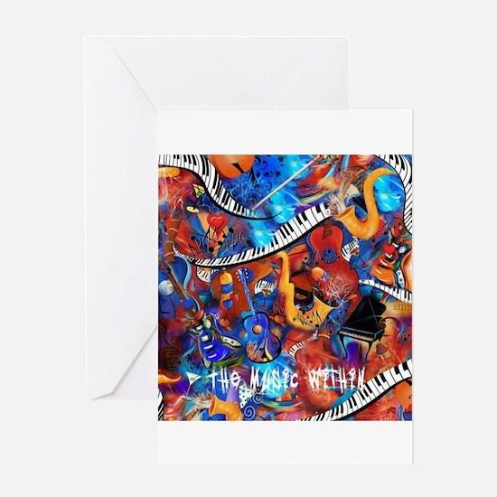 Juleez Music Theme Art Decor Music Greeting Cards