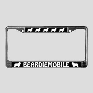 Bearded Collie License Plate Frame