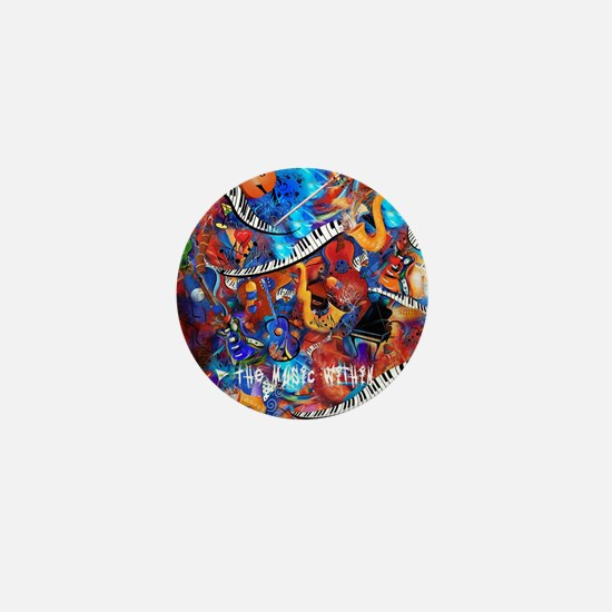 Juleez Music Theme Art Decor Music Lov Mini Button