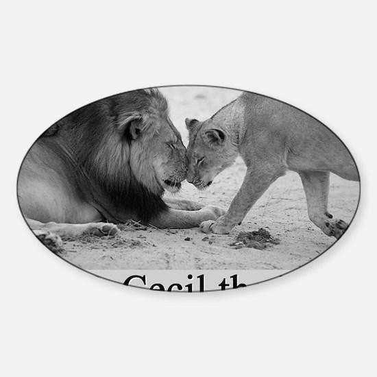 R.I.P. Cecil the Lion Sticker (Oval)