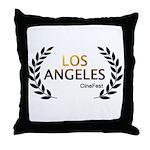Los Angeles Cine Fest Throw Pillow