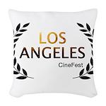 Los Angeles Cine Fest Woven Throw Pillow