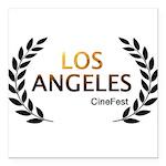 Los Angeles Cine Fest Square Car Magnet 3