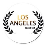 Los Angeles Cine Fest Round Car Magnet