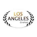 Los Angeles Cine Fest Oval Car Magnet