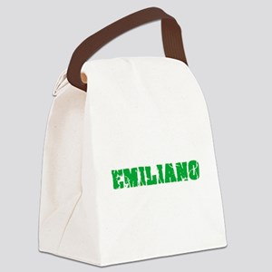 Emiliano Name Weathered Green Des Canvas Lunch Bag