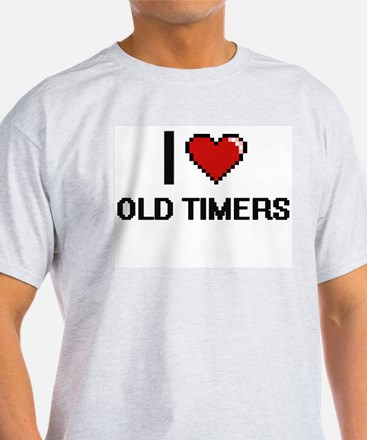 I Love Old-Timers T-Shirt