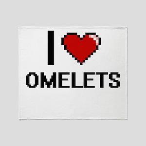 I Love Omelets Throw Blanket