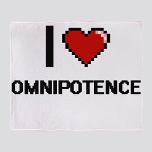 I Love Omnipotence Throw Blanket
