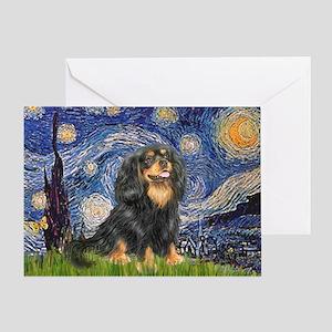 Starry Night Cavalier Greeting Card