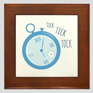 Tick Tock Framed Tile