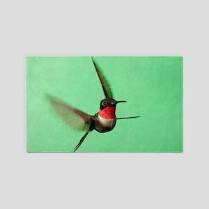Ruby-Throated Hummingbird Area Rug