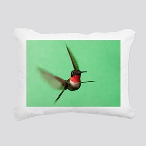 Ruby-Throated Hummingbir Rectangular Canvas Pillow