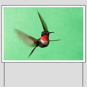 Ruby-Throated Hummingbird Yard Sign