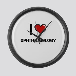 I Love Ophthalmology Large Wall Clock