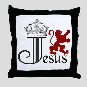 KING JESUS Throw Pillow