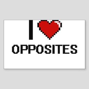 I Love Opposites Sticker