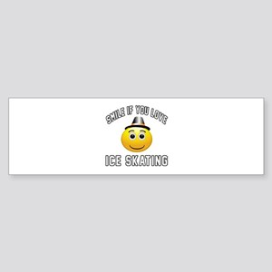 Ice Skating Smiley Sports Designs Sticker (Bumper)