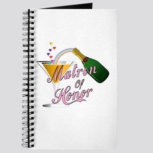 Champagne Toast Matron of Honor Journal