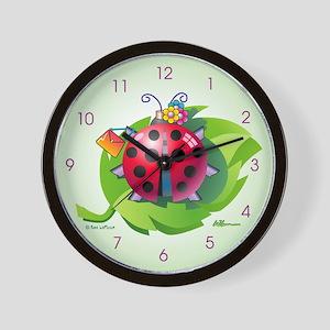 """""""Lady"""" Bug Clear Wall Clock"""