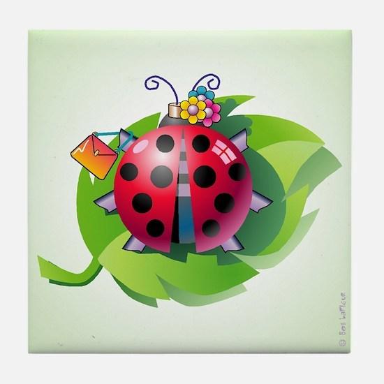 """Lady"" Bug Clear Tile Coaster"